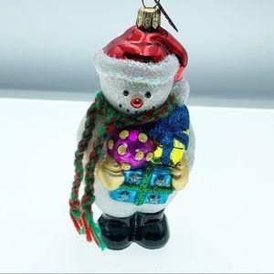 Neiman Marcus snowman Xmas ornament
